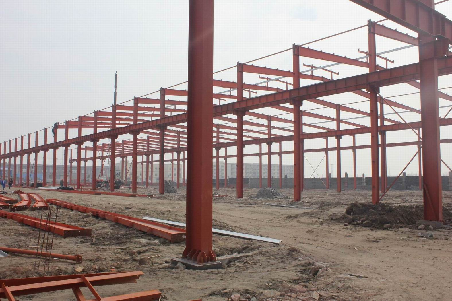 ISO-Certificated-Steel-Structure-Construction-Warehouse