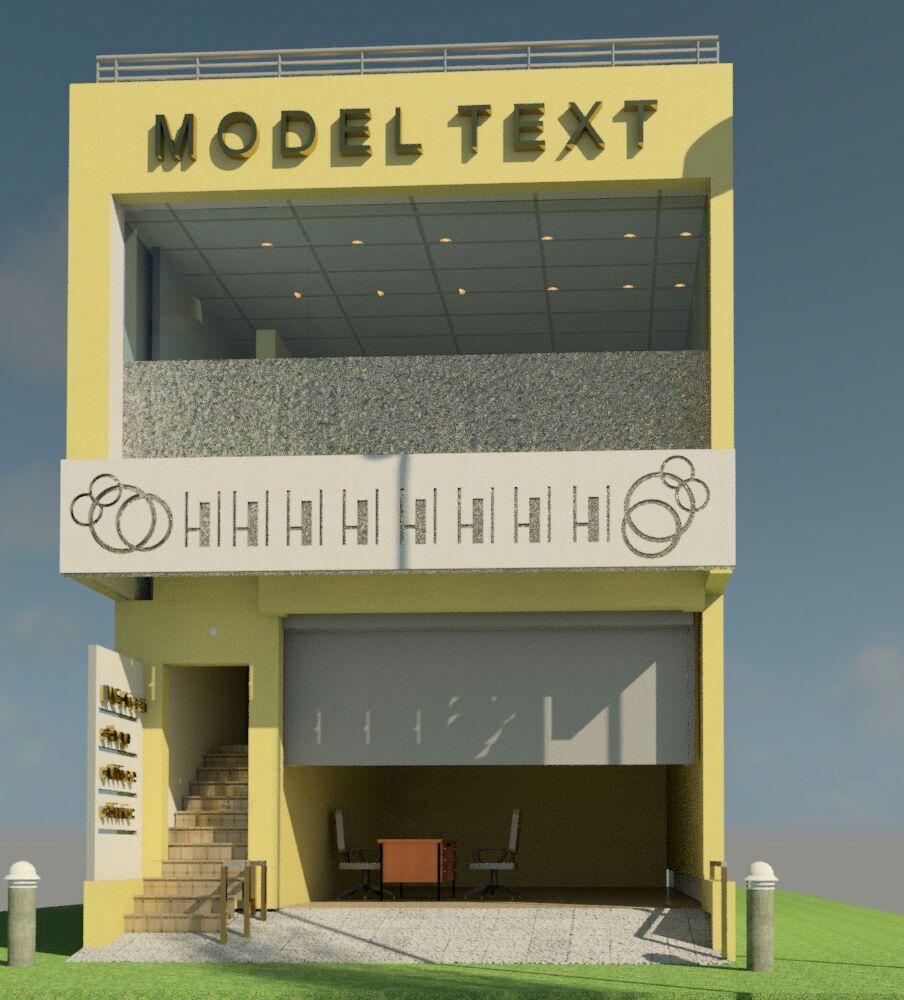 A Revit Architecture of a Commercial Shop